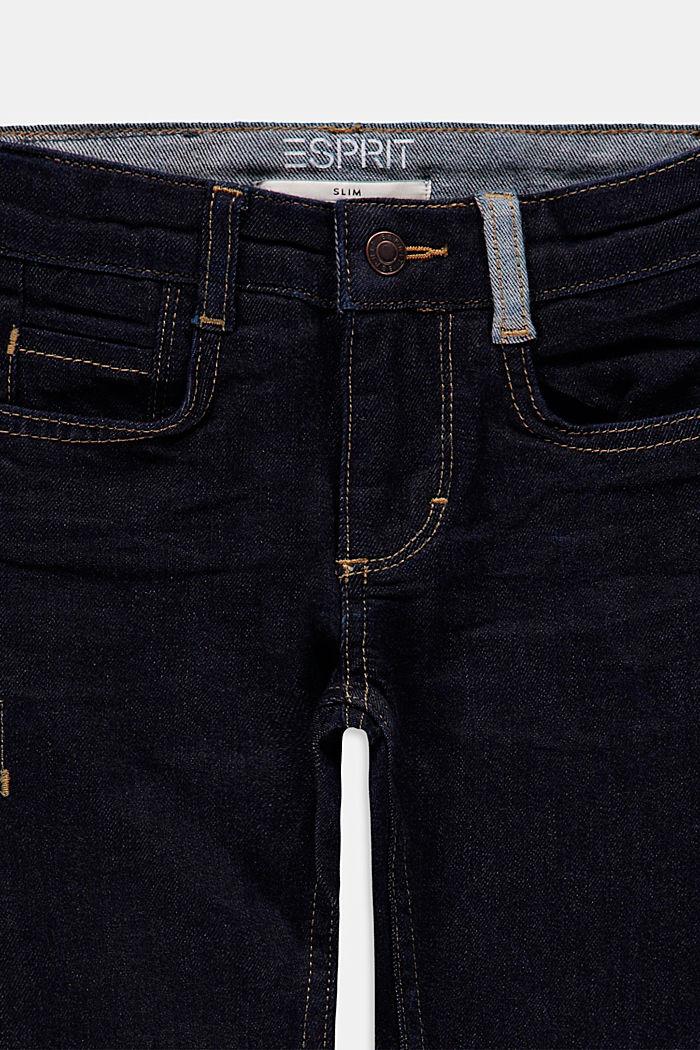 Dunkelblaue Jeans mit Verstellbund, BLUE RINSE, detail image number 2