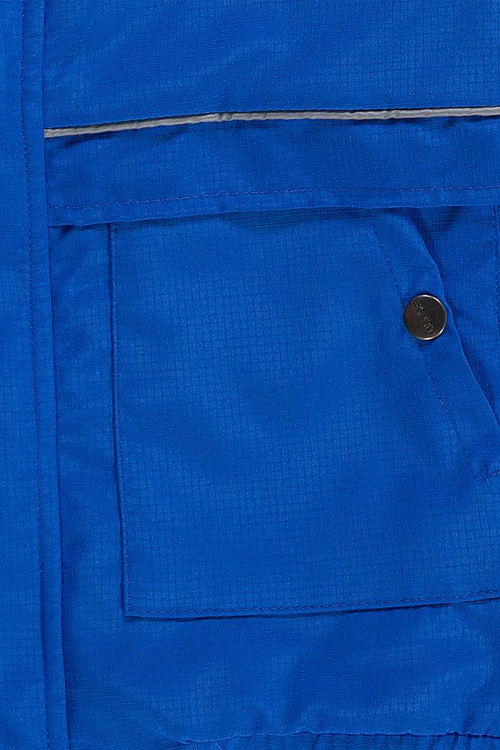 Gewatteerd bomberjack met capuchon en reflecterende details, BLUE, detail image number 2