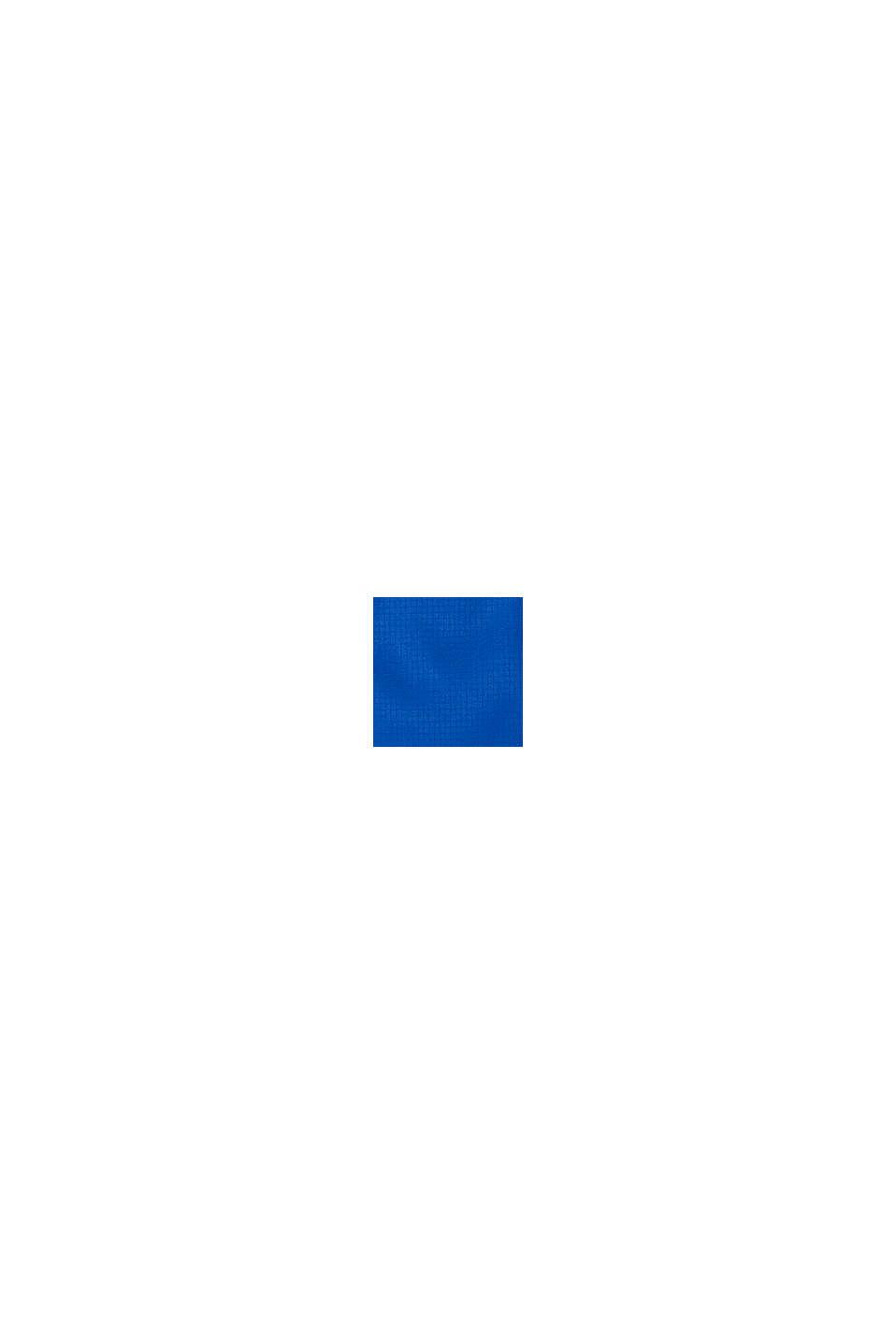 Leichter Blouon mit Kapuze und Reflektor-Details, BLUE, swatch