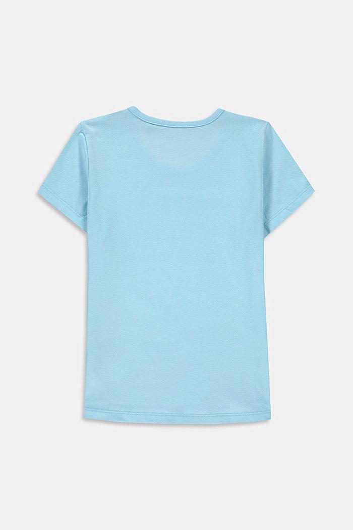 T-Shirt mit Print aus Baumwoll-Stretch, LIGHT TURQUOISE, detail image number 1