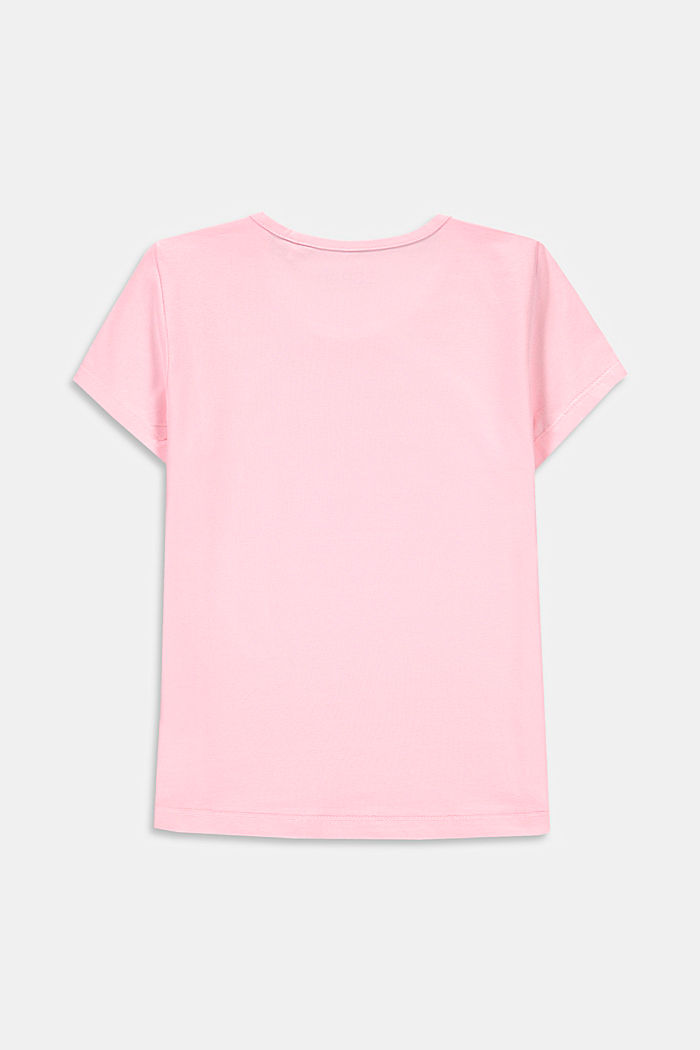 Printed T-shirt made of stretch cotton, BLUSH, detail image number 1