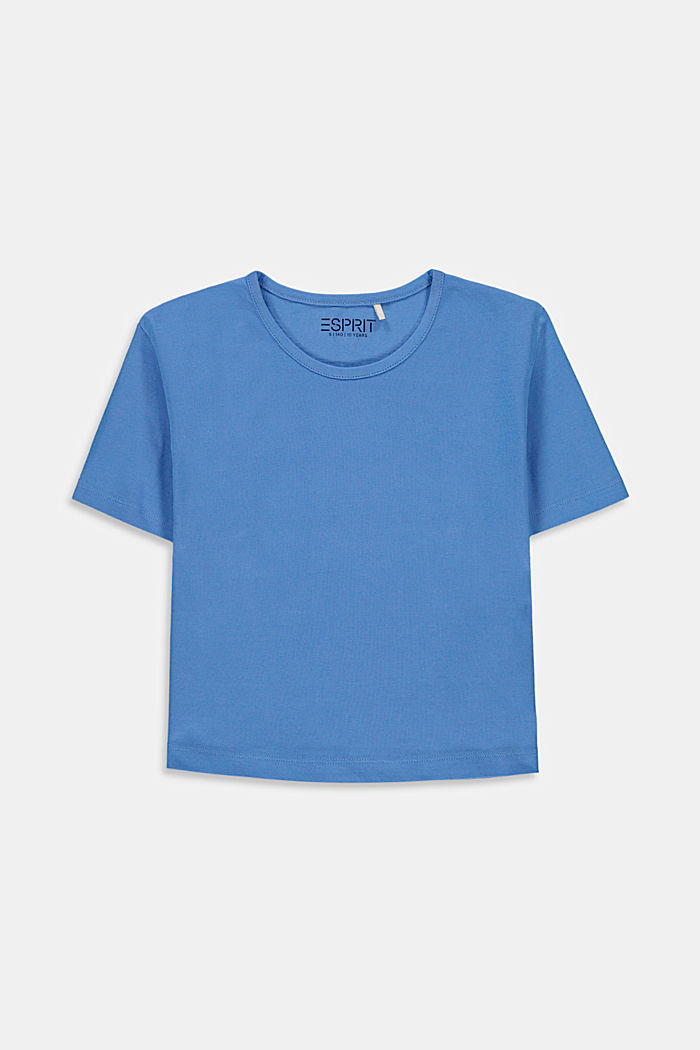 Cropped T-shirt with a print on the back