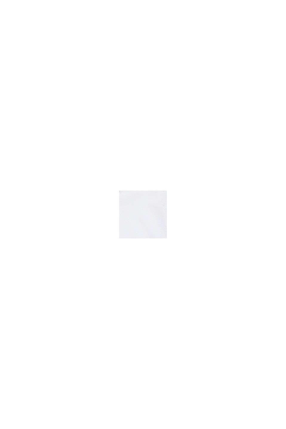 Cropped Boxy-Shirt mit Glanz-Print, WHITE, swatch