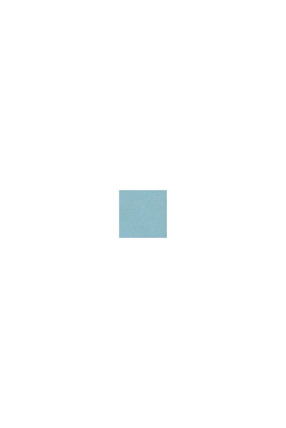 Longsleeve met glanzende logoprint, LIGHT TURQUOISE, swatch