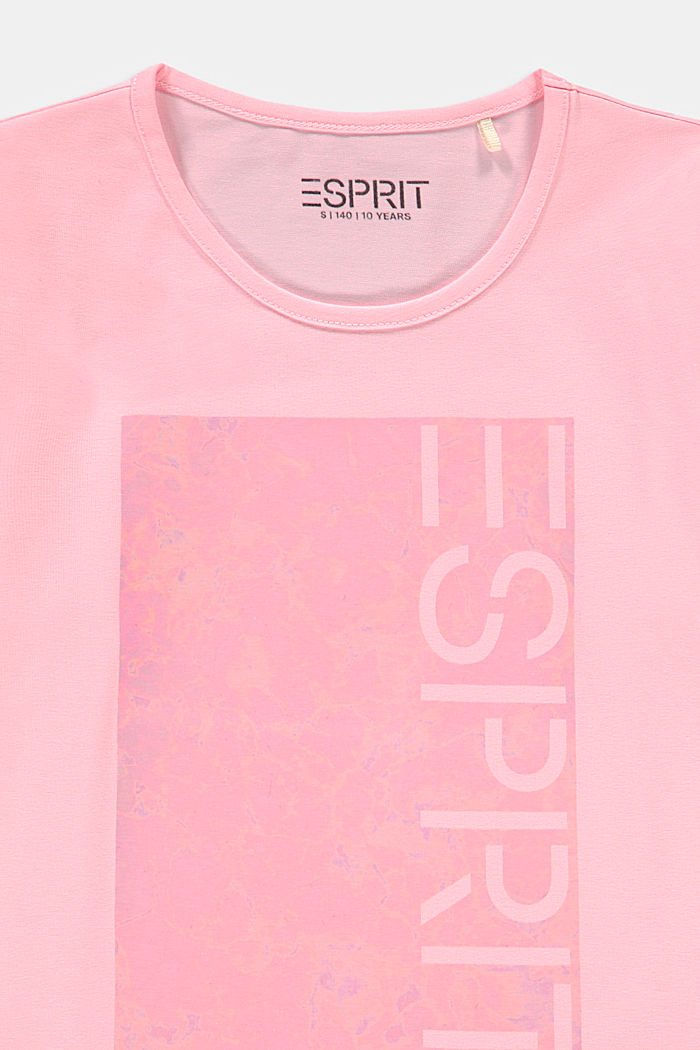 Long sleeve top with a shiny logo print, BLUSH, detail image number 2