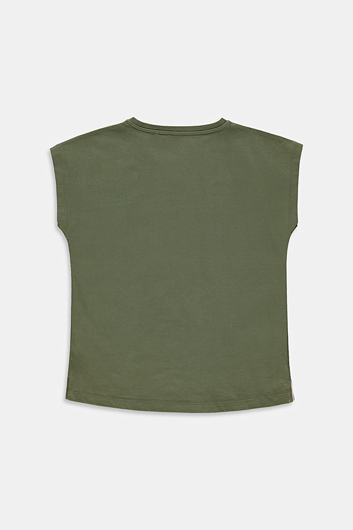 Statement print T-shirt, DARK KHAKI, detail image number 1