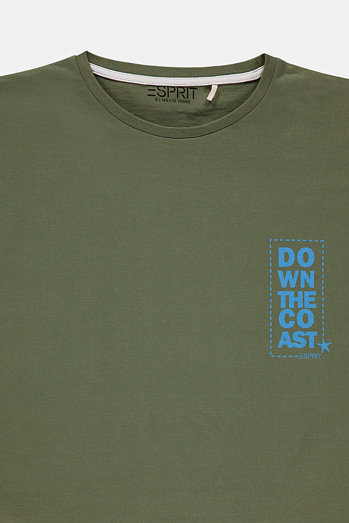 Camiseta con frase estampada, DARK KHAKI, detail image number 2