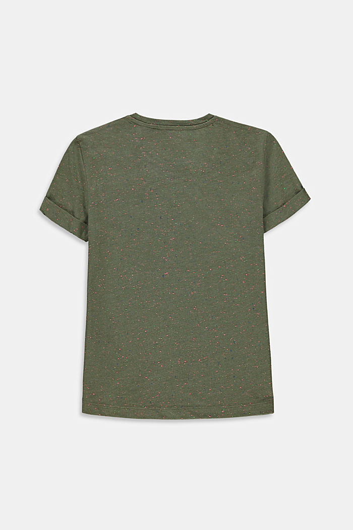 T-shirt with a colourful dimpled texture