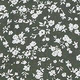 Top façon blouse à imprimé à fleurs, rehaussé de nœuds, DARK KHAKI, swatch