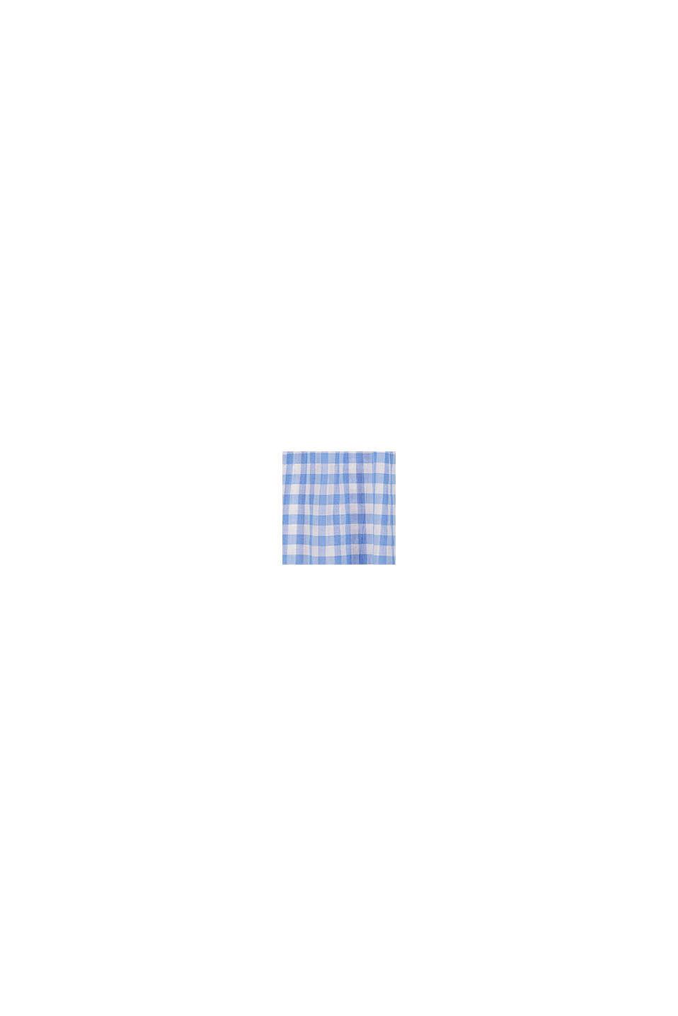 Blusa estilo Bardot con cuadros vichy, LIGHT BLUE, swatch