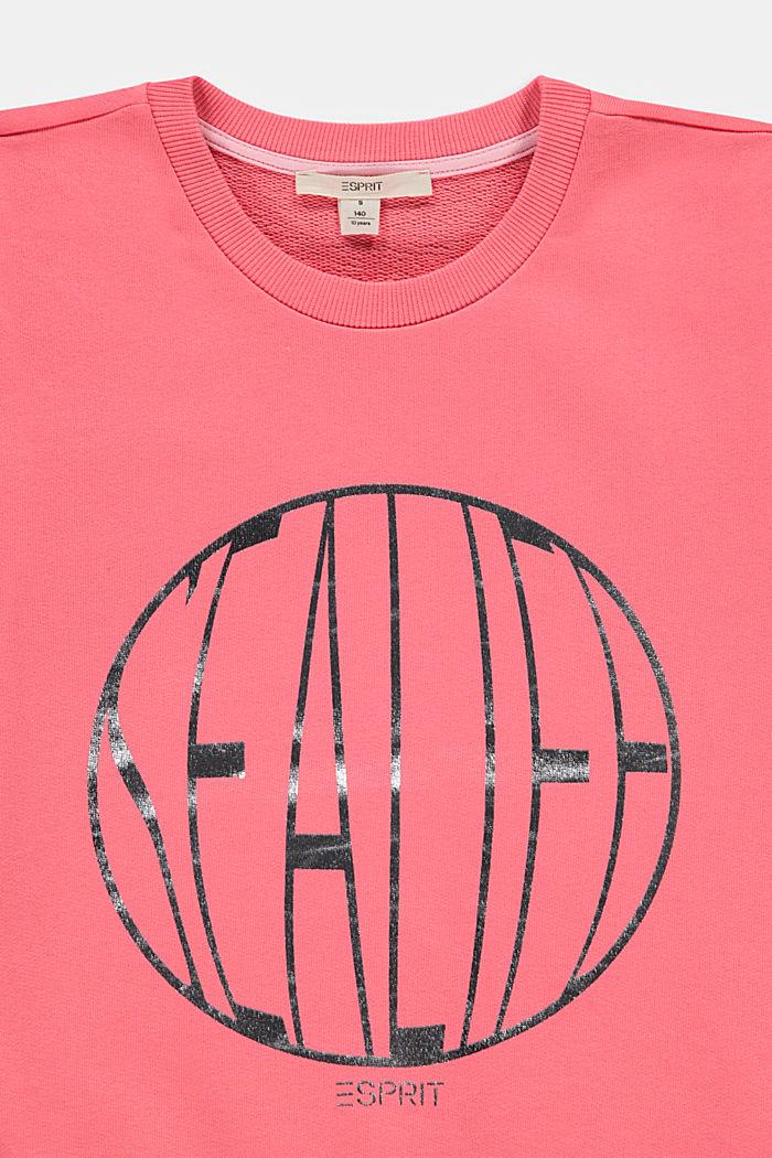 Sweatshirt mit Glanz-Print, 100% Baumwolle, CORAL, detail image number 2
