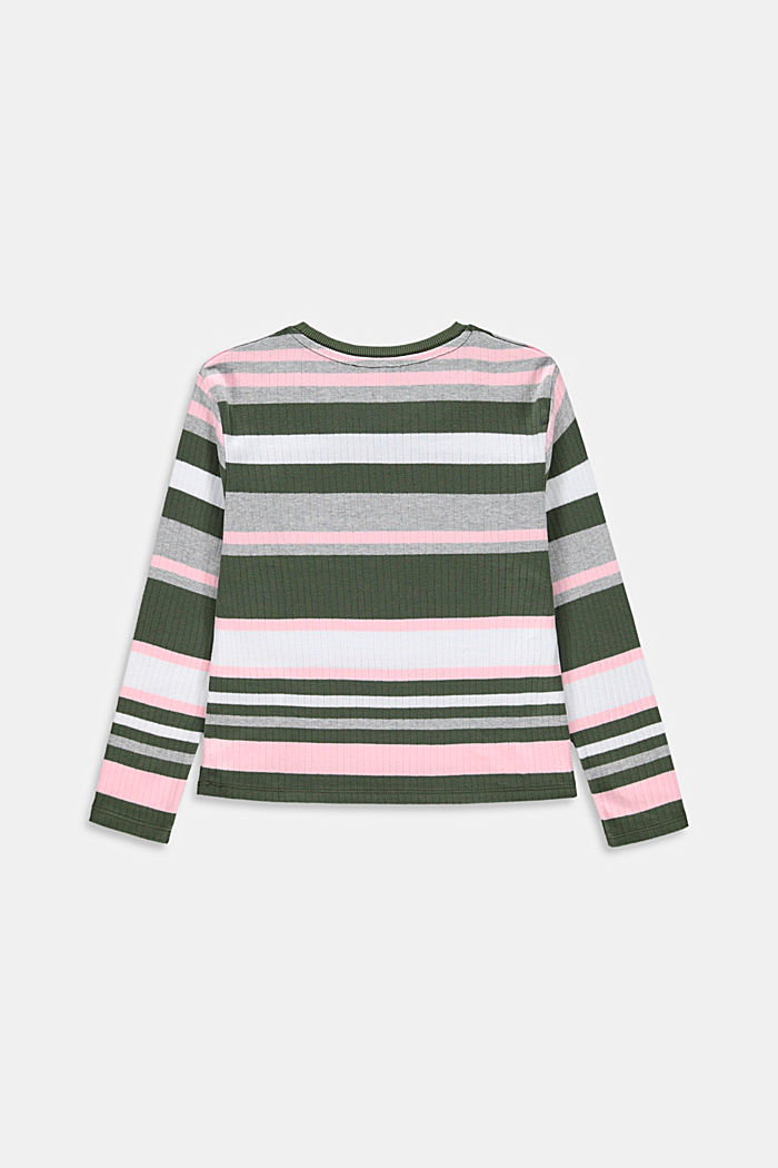 Cropped ribbed jumper, 100% cotton