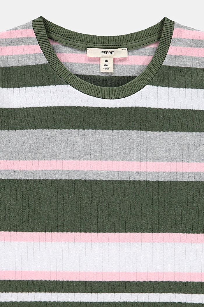 Wat kortere, geribde trui, 100% katoen, DARK KHAKI, detail image number 2