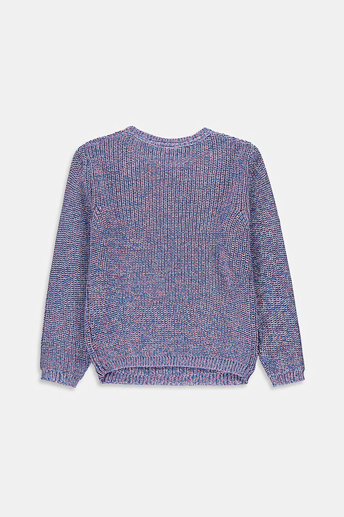 Jumper in multi-colour mouliné yarn
