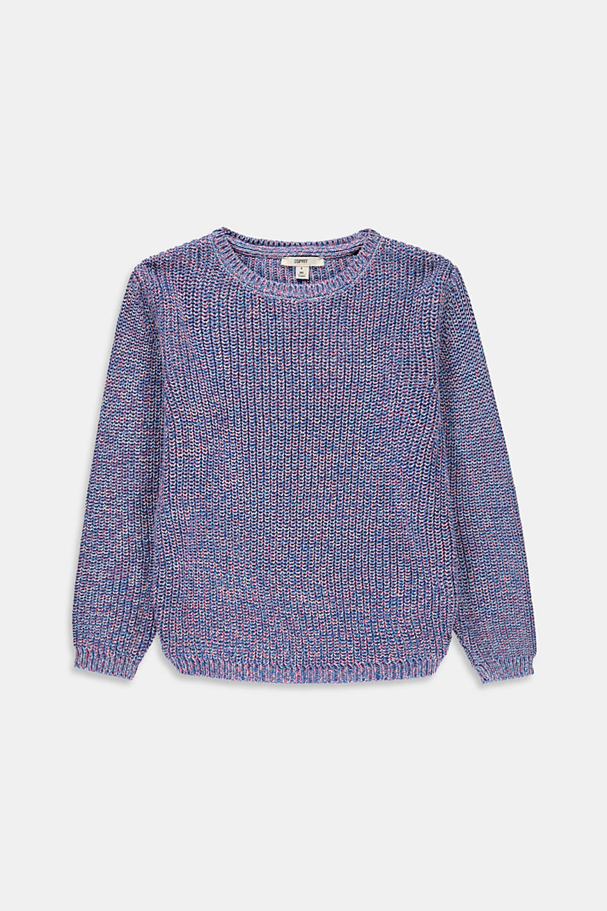 Pull-over en fil mouliné multicolore