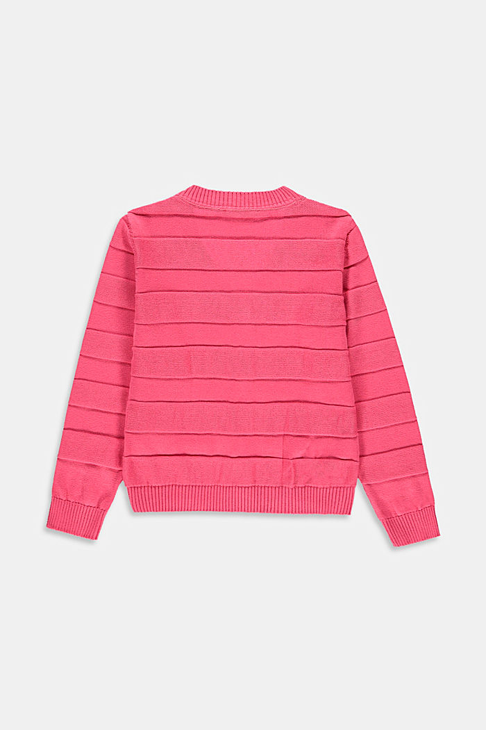 Cardigan with a ribbed texture, CORAL, detail image number 1