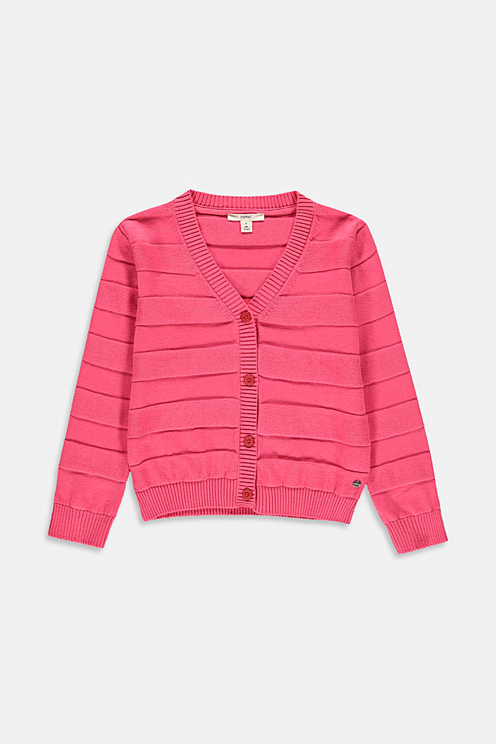 Cardigan with a ribbed texture, CORAL, detail image number 0