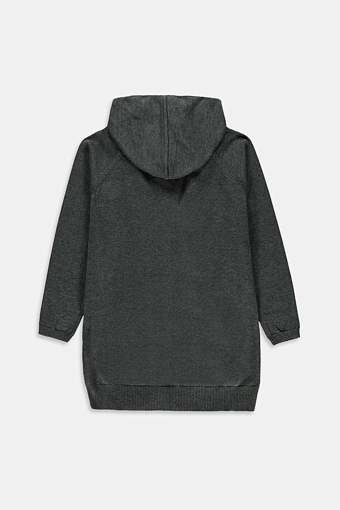 Cardigan ouvert à capuche, 100% coton