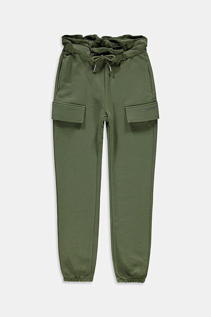 Pantalon de jogging style cargo, 100% coton