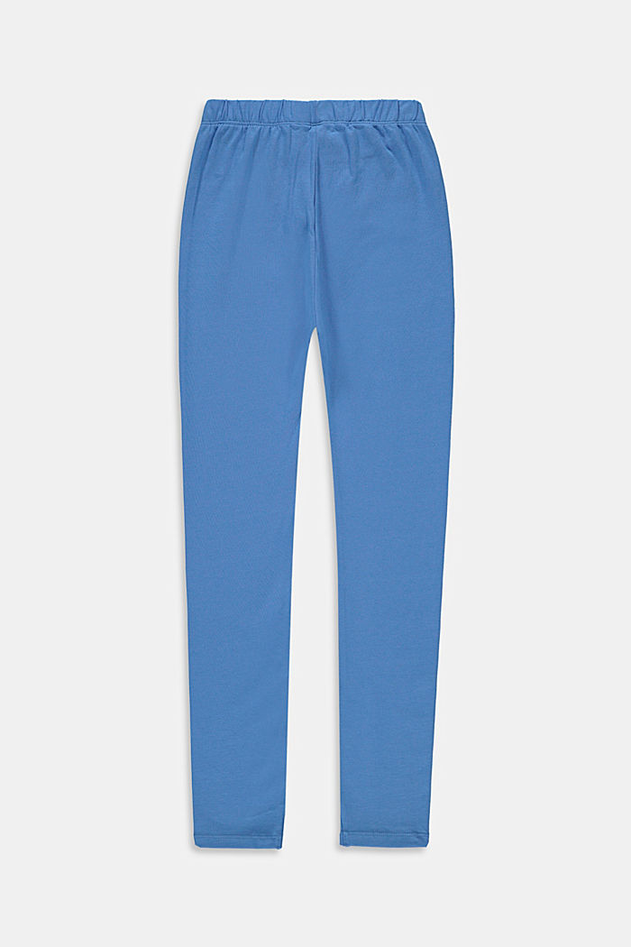 Basic stretch cotton leggings, LIGHT BLUE, detail image number 1