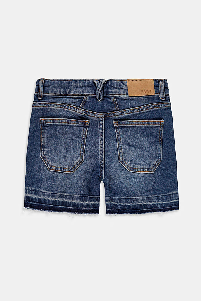 Gerecycled: denim short met verstelbare band