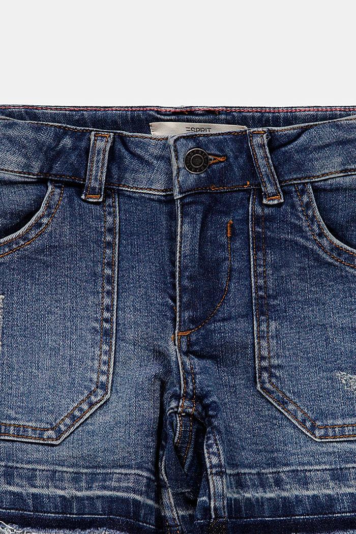 Reciclados: vaqueros cortos con cintura ajustable, BLUE MEDIUM WASHED, detail image number 2