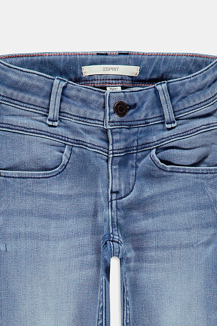 Capris jeans with an adjustable waistband, BLUE LIGHT WASHED, detail image number 2