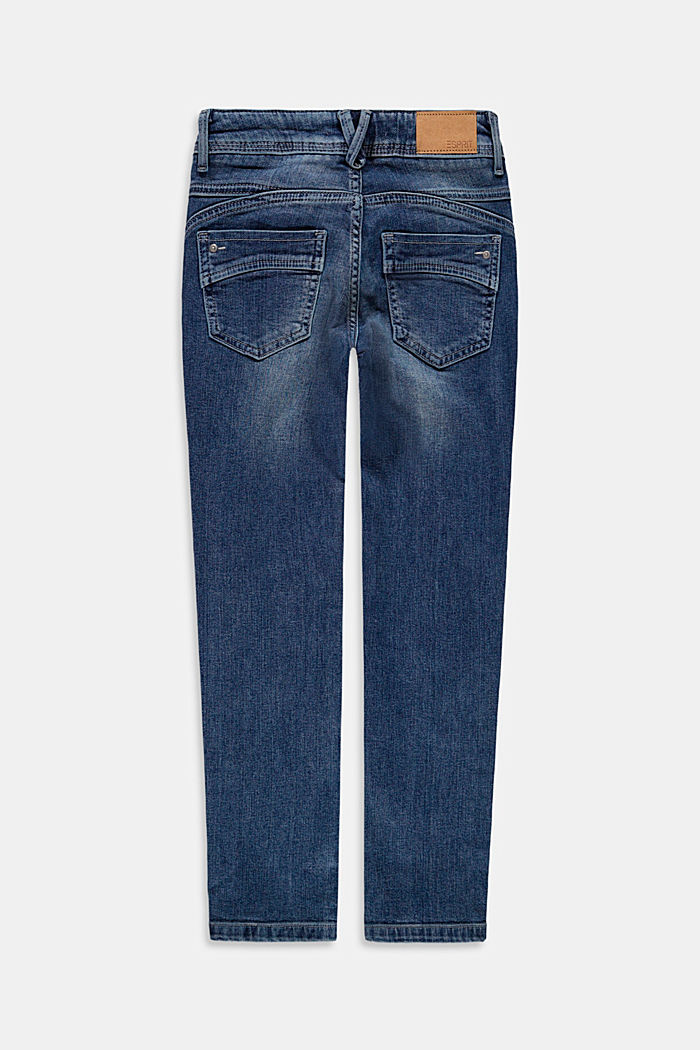 Smalle jeans met garment-washed look