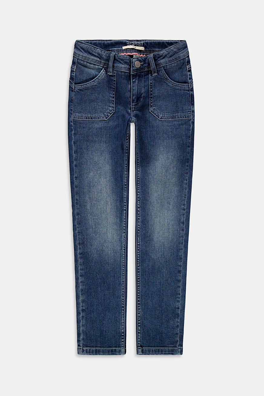 Skinny jeans with a washed finish
