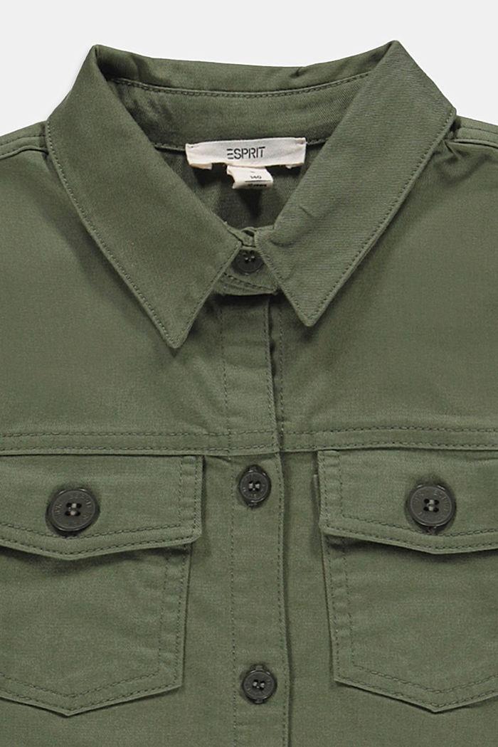 Vestido camisero en 100% algodón, DARK KHAKI, detail image number 2