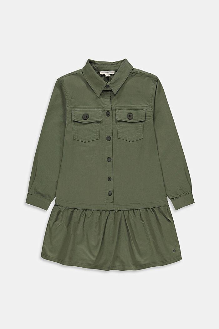 Hemdblusenkleid aus 100% Baumwolle