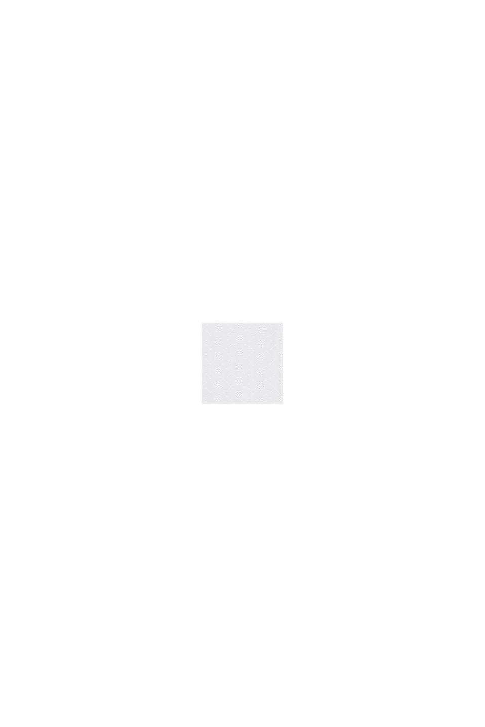 Midi-jurk met broderie met bloemmotief, WHITE, swatch
