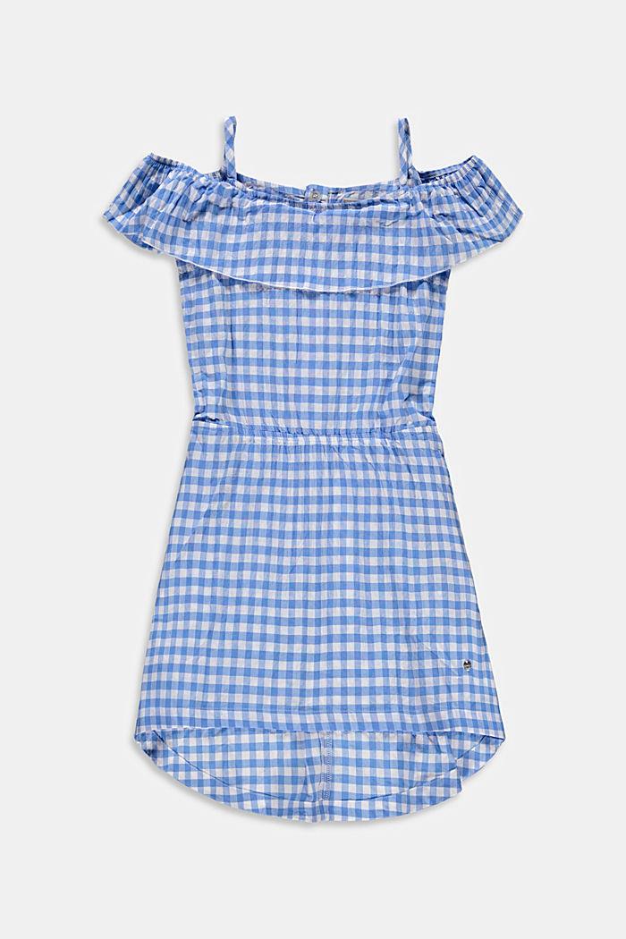 Vichy-Karo-Kleid mit Carmen-Ausschnitt
