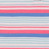 Polo dress made of striped piqué, CORAL, swatch