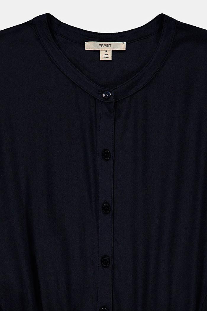 Jumpsuit met elastische taille, van viscose, NAVY, detail image number 2