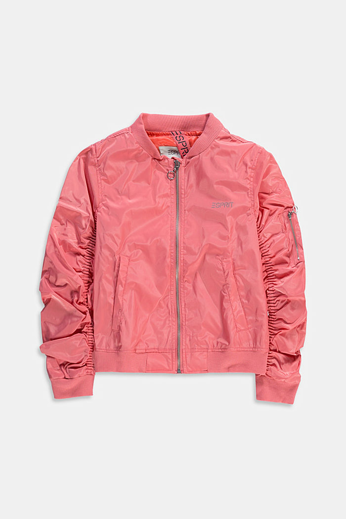 Lightweight bomber jacket, CORAL, detail image number 0