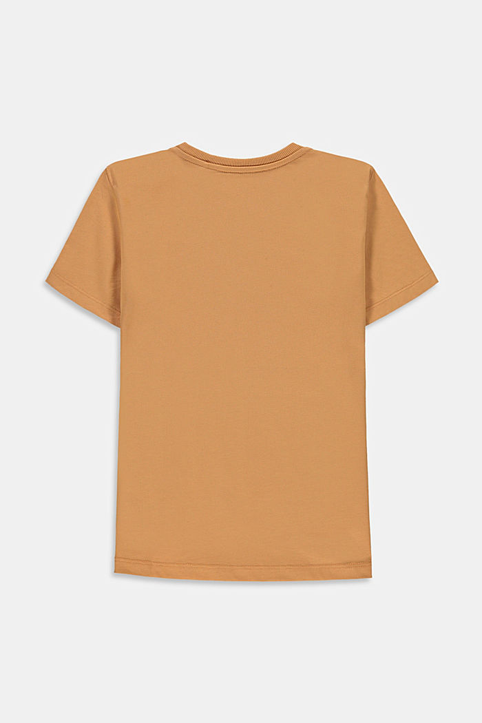 T-shirt with a shiny print, 100% cotton, CARAMEL, detail image number 1