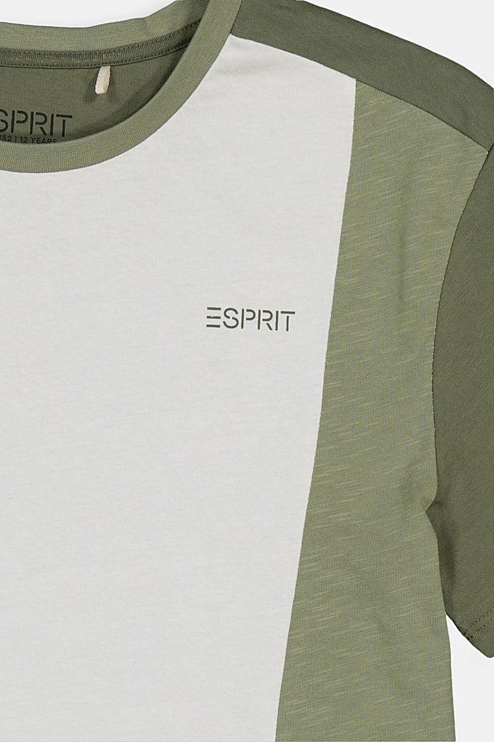 Oversized T-shirt with colour blocking, DARK KHAKI, detail image number 2