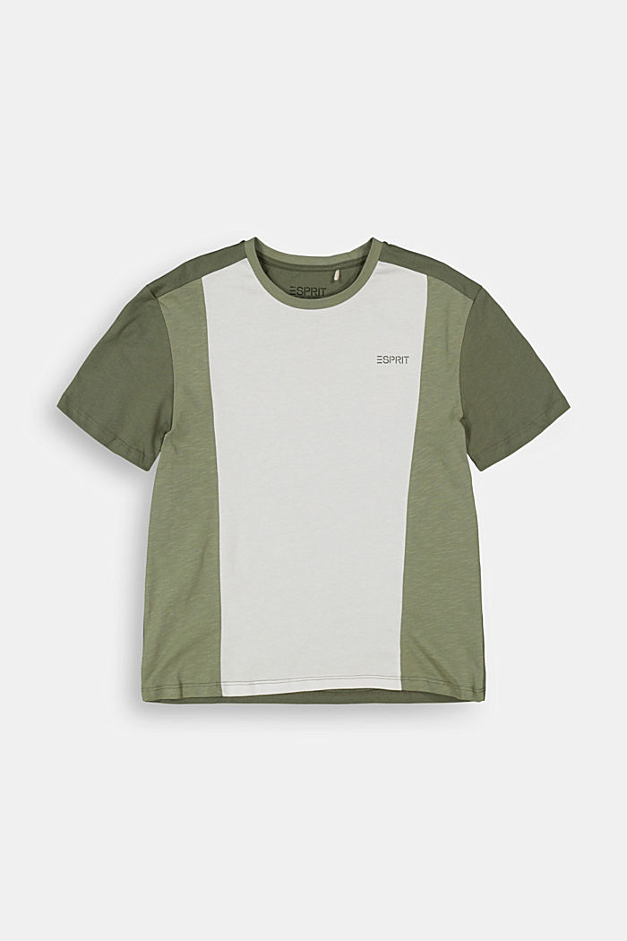 Oversized T-shirt with colour blocking, DARK KHAKI, detail image number 0