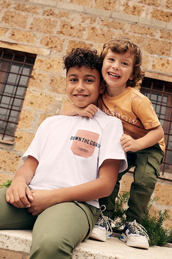 T-Shirt mit Brusttasche, 100% Baumwolle, WHITE, detail image number 2