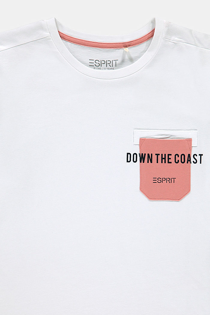 T-shirt with a breast pocket, 100% cotton, WHITE, detail image number 2