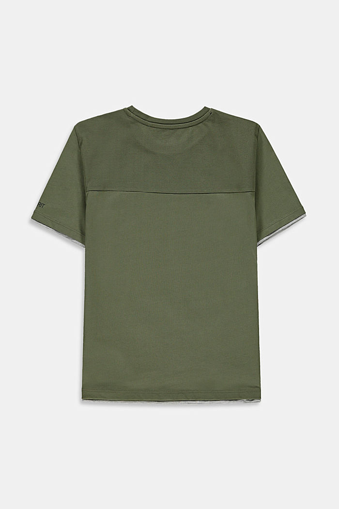 100% cotton T-shirt in a layered look