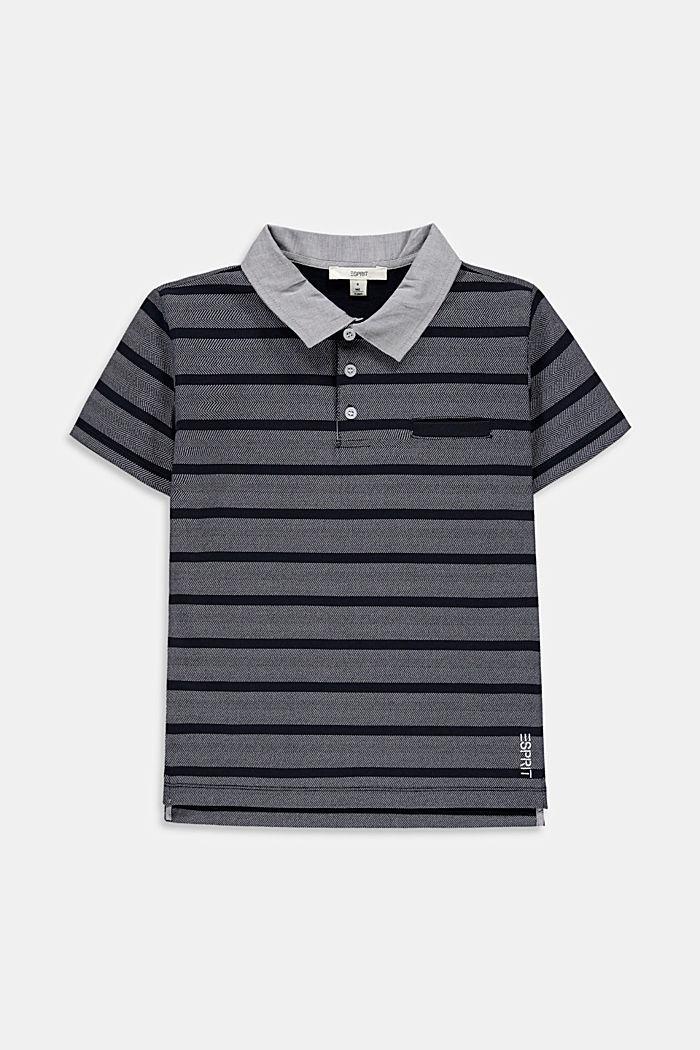 Jersey-Polo mit Streifen, 100% Baumwolle