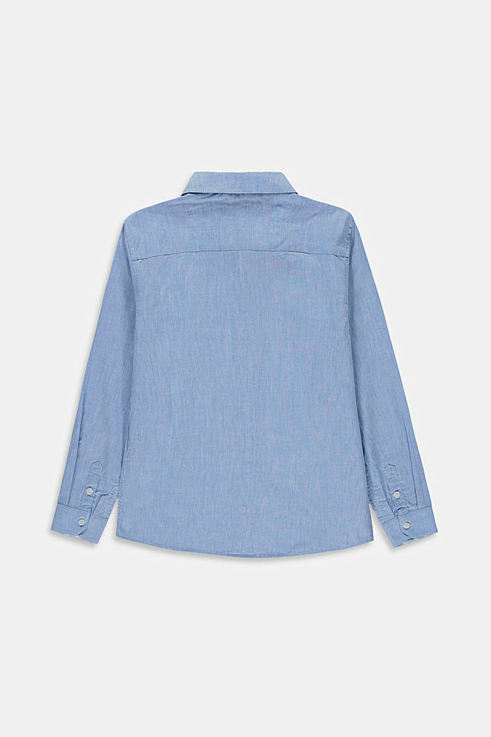 Melange shirt made of 100% cotton, PASTEL BLUE, detail image number 1