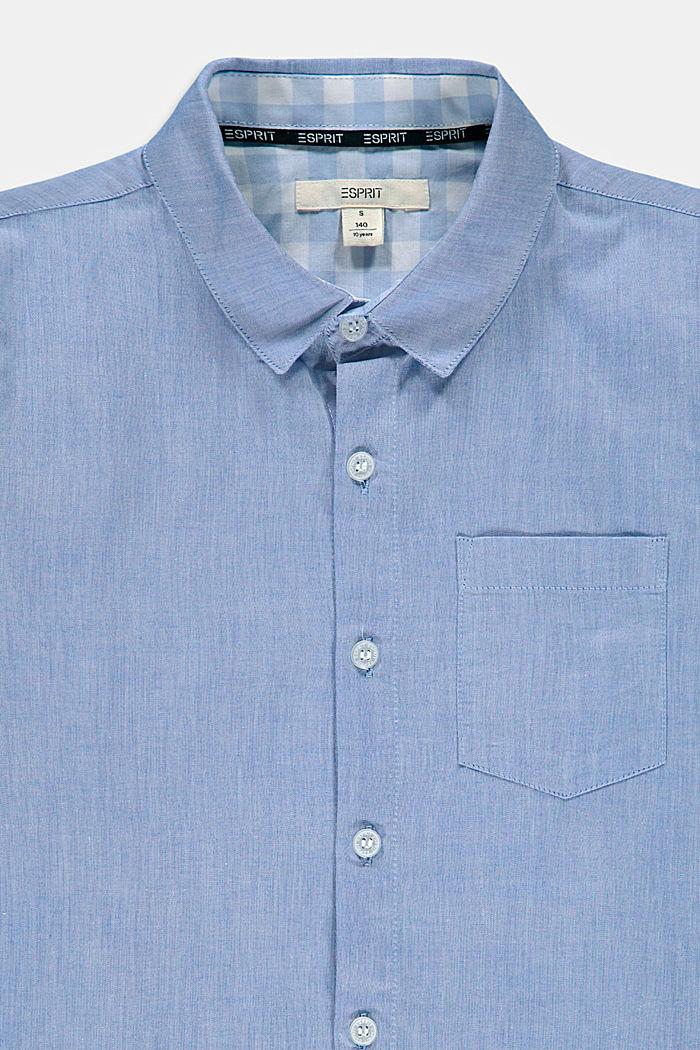 Camisa jaspeada en 100 % algodón, PASTEL BLUE, detail image number 2