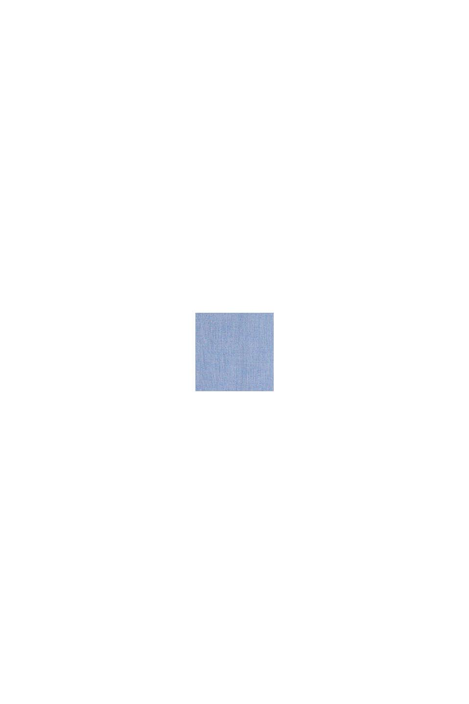 Camisa jaspeada en 100 % algodón, PASTEL BLUE, swatch