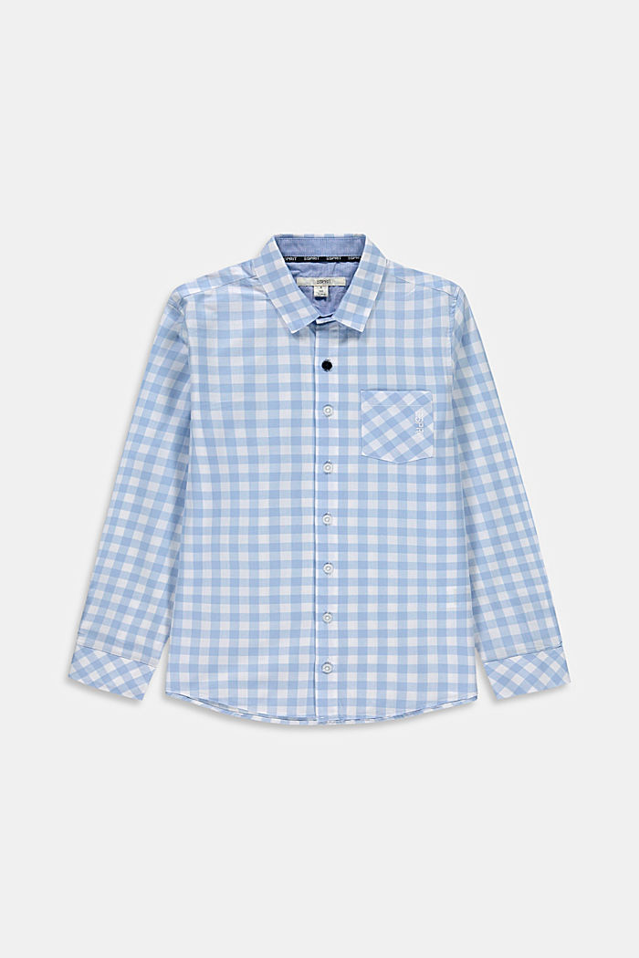 Shirt with gingham checks, 100% cotton