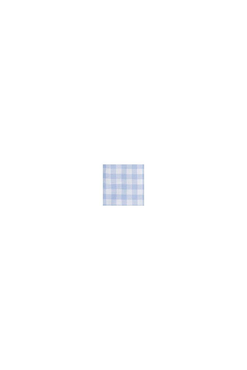 Overhemd met vichyruiten, 100% katoen, PASTEL BLUE, swatch
