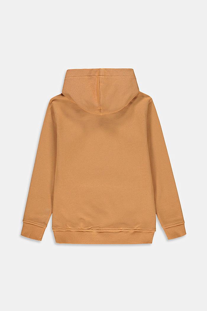 Hoodie met print en zak, 100% katoen