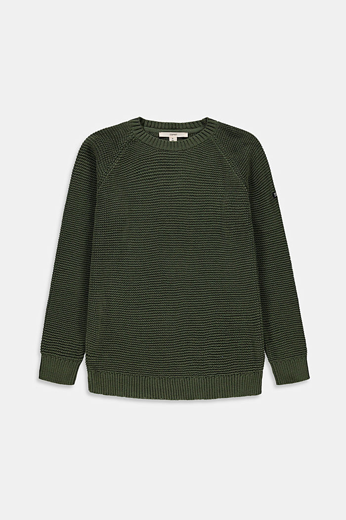 Struktur-Pullover aus 100% Baumwolle